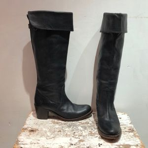 Size 7.5 Black Frye Knee High Boots
